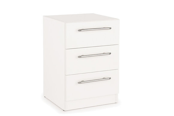 Angel 3 drawer bedside