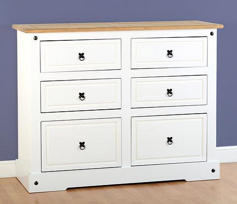 Crown 6 drawer chest