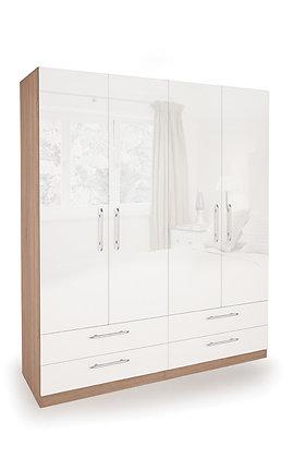 Kew 4 door, 4 drawer wardrobe