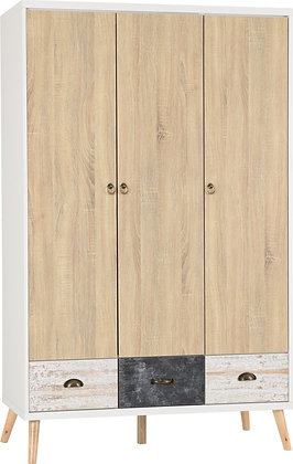 Norton 3 door 3 drawer Wardrobe