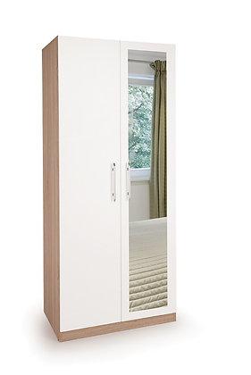 Hyde 2 door wardrobe with mirror