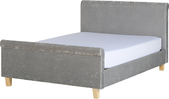 Shelley sleigh bed high foot end