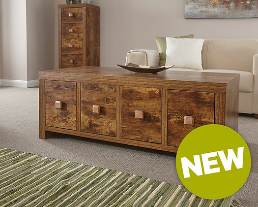 Jakarta 8 drawer coffee table