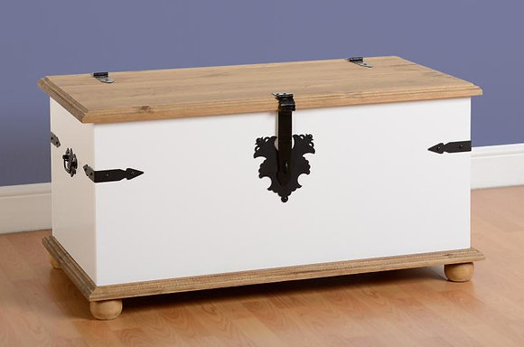 Crown white storage box