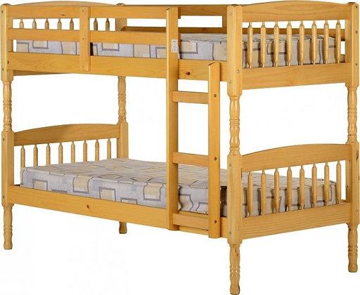 Pine bunk beds with mattress