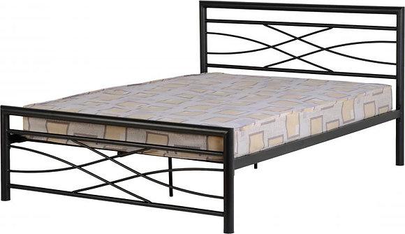 Keeley Black metal bed frame 4ft