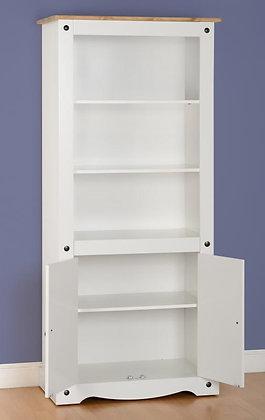 Crown White 2 door display cabinet