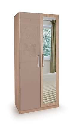 Oval 2 door mirror wardrobe