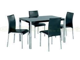 Novello Black gloss Dining set