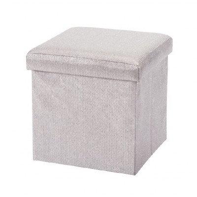 Silver Glitter Ottoman box