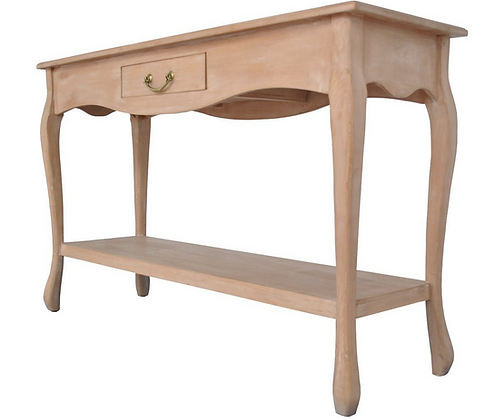 French Rustic Oak Console Table