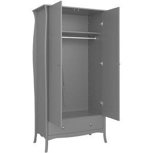 barrie  2 door grey wardrobe