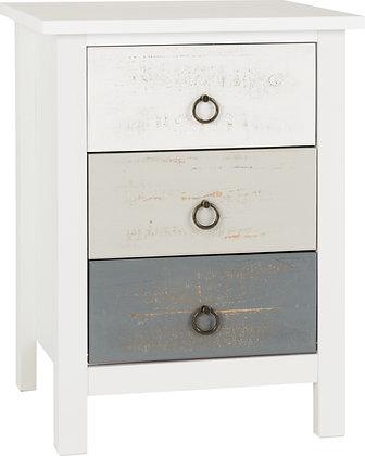vernon 3 drawer bedside