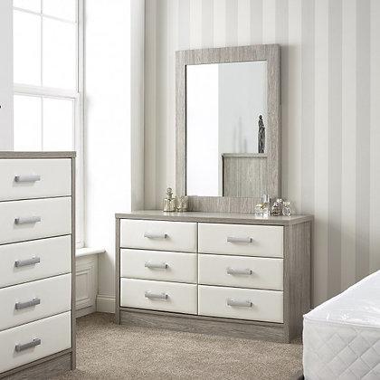 Aria 3+3 dresser with mirror