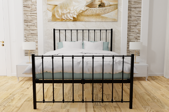 Kristy Wrought Iron Bedframe 4ft6