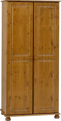 Pine 2 door wardrobe