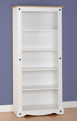 Crown White Tall bookcase