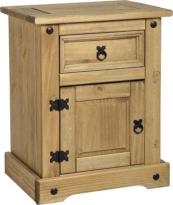 Crown1 door, 1 drawer bedside