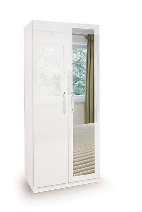 Angle 2 door Wardrobe with mirror