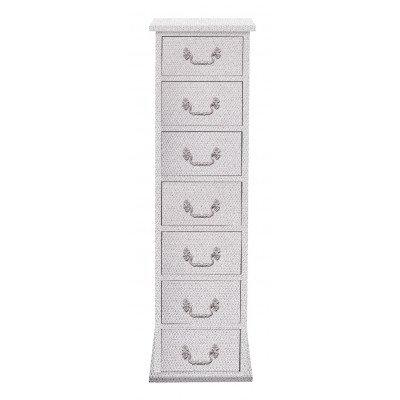 7 drawer narrow glitter chest