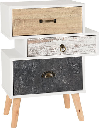Norton 3 drawer bedside cabinet