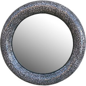 Round mosaic mirror