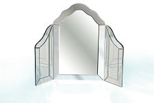Mirrored dressing table miror