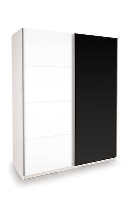 Black/white sliding wardrobe