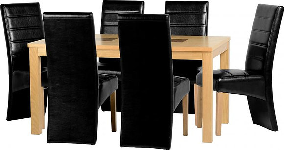 Wexford long chair dining set