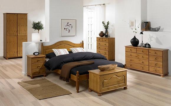 Pine wooden bedframe 4ft6