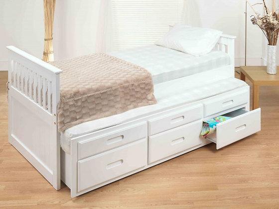 Captains underbed storage bed