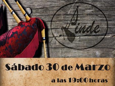 El artesano Sergio Linde presenta sus gaitas en Guadarrama
