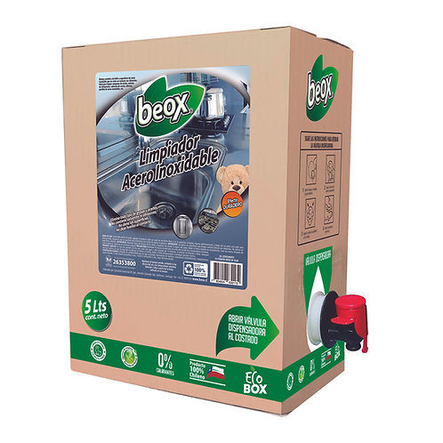 Limpiador Acero Inoxidable Beox® 5 Lts. - CAJA CON 4UNIDADES
