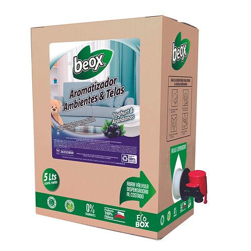 Aromatizador ambiente y telas Yoghurt Arándanos BEOX® 5LTS - CAJA CON 4UNIDADES
