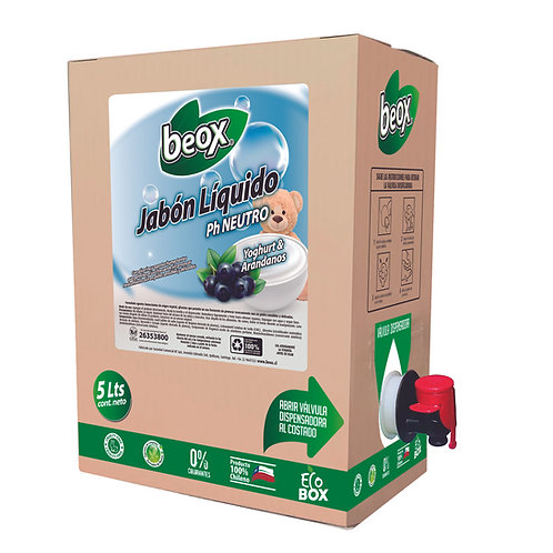 Jabon Liquido Yoghurt Arándanos Beox® 5Lts - CAJA CON 4UNIDADES