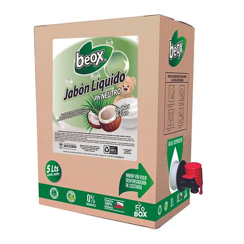 Jabon Liquido Yoghurt Coco Beox® 5Lts