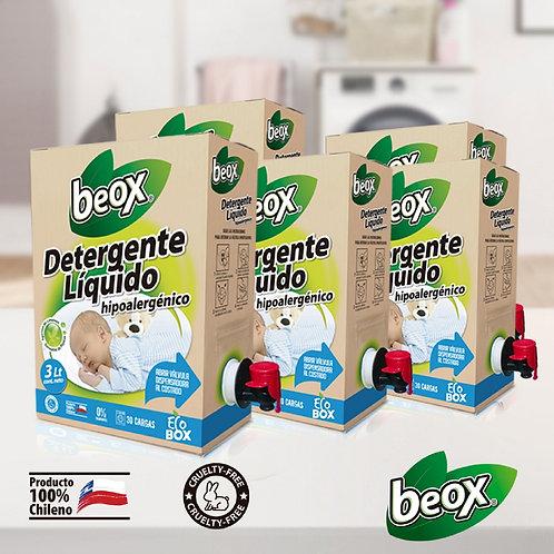 Pack 4 x Detergente Hipoalergenico Beox® Ecobox 3lts C/U