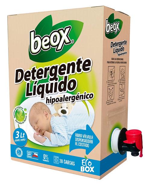 Detergente Hipoalergenico Beox® Ecobox 3lts - CAJA CON 6 UNIDADES