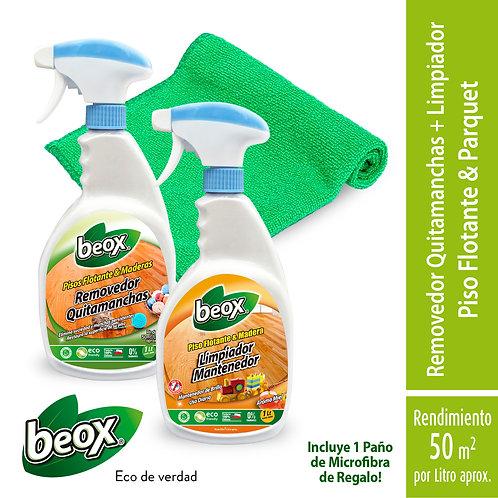 Removedor + Limpiador Piso Flotante/Laminado + Paño de Regalo Beox® 1Lt/G