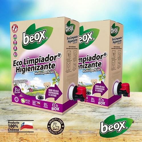 Pack X 2 Eco Higienizador Beox® Ecobox 3lts C/U