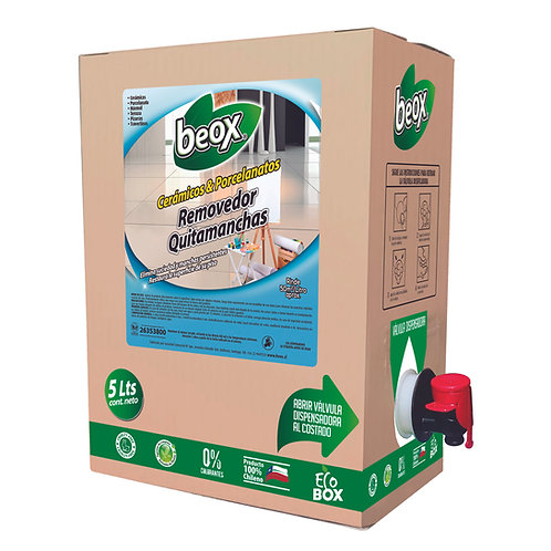 Removedor Manchas Porcelanato & Ceramicas Beox® 5lts - CAJA CON 4UNIDADES