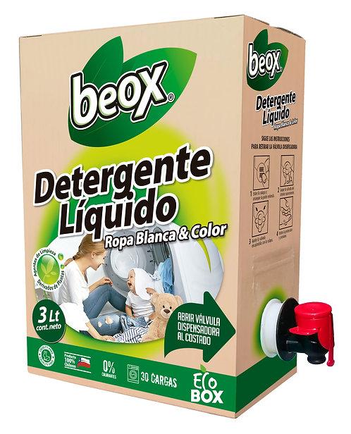 Detergente Liquido Beox® Ecobox 3lts - CAJA CON 6 UNIDADES