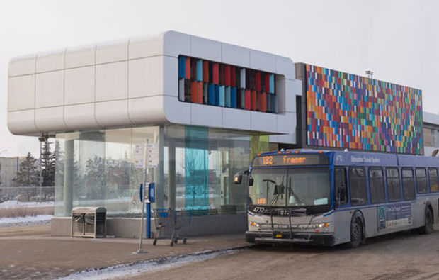 Part of a potential winter city strategy for Ulaanbaatar is incorporating winter-oriented design in city planning such as a well-built bus station that shelters passengers from the freezing cold. Photo: Colton Kirsop.