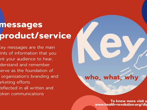 What are key messages of a product/service and the role of messaging?