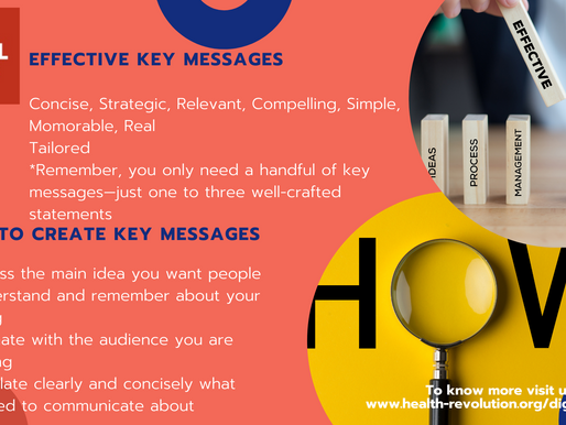 Effective key messages and How to create key messages