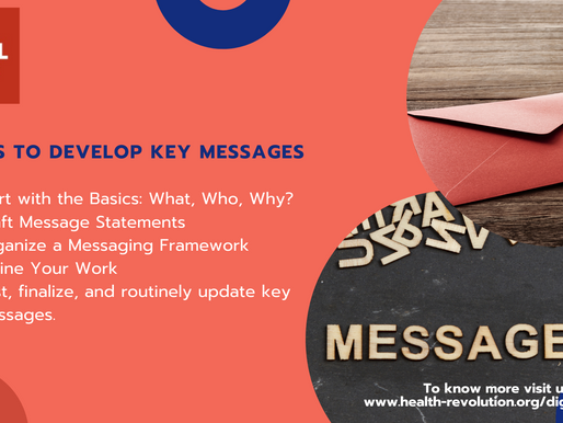 How to develop key messages