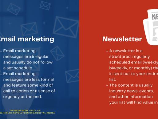 Newsletter versus Email marketing