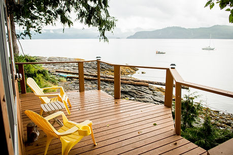 Beach Cabin deck