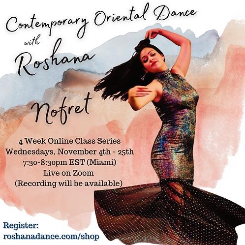 Contemporary Oriental Dance Four Week Class Series