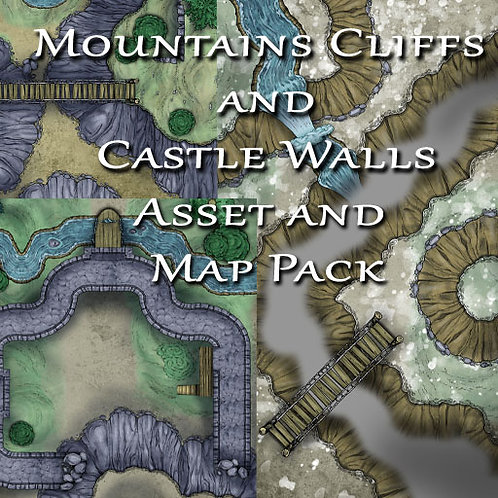 Mountains Cliffs and Castle Walls